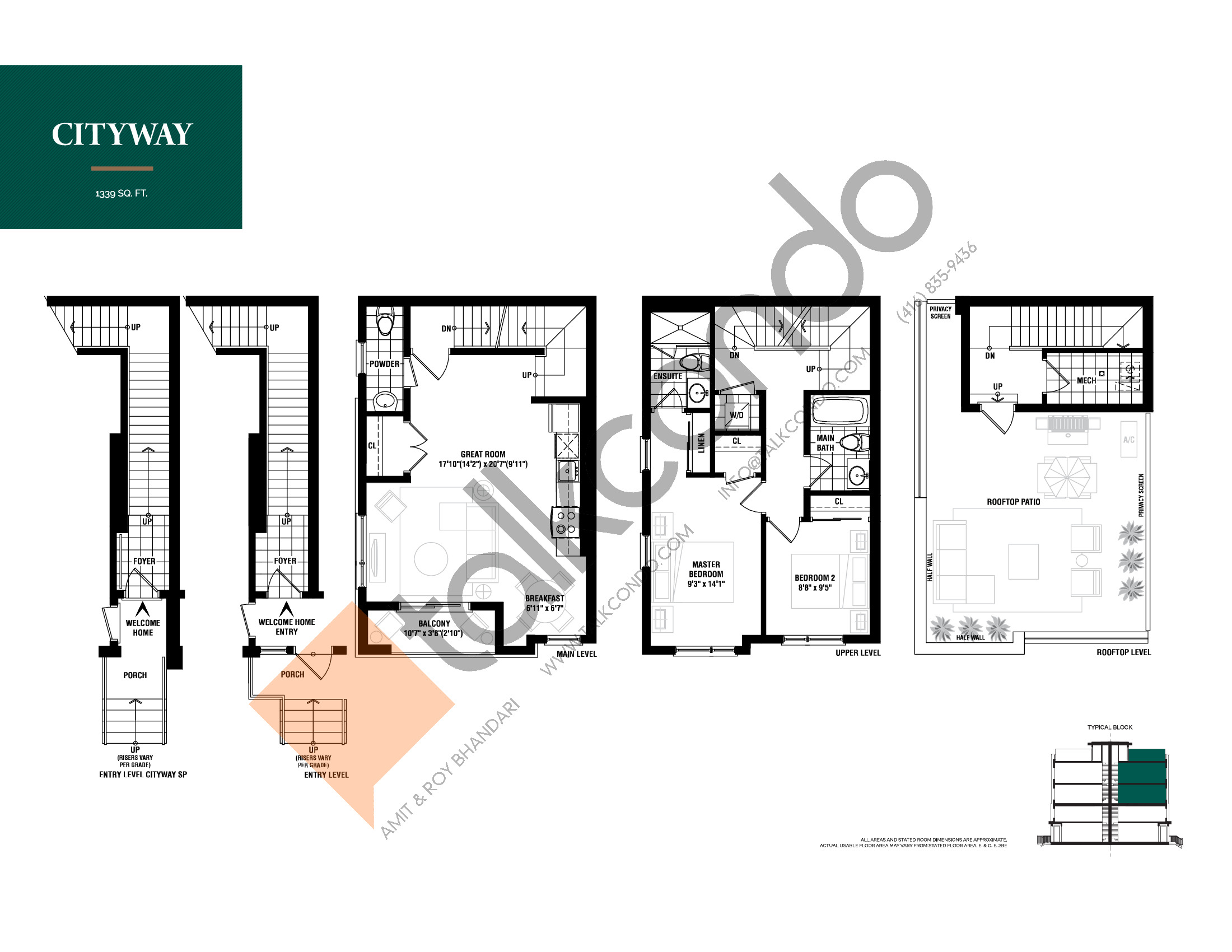 Cityway Floor Plan at The Way Urban Towns - 1339 sq.ft