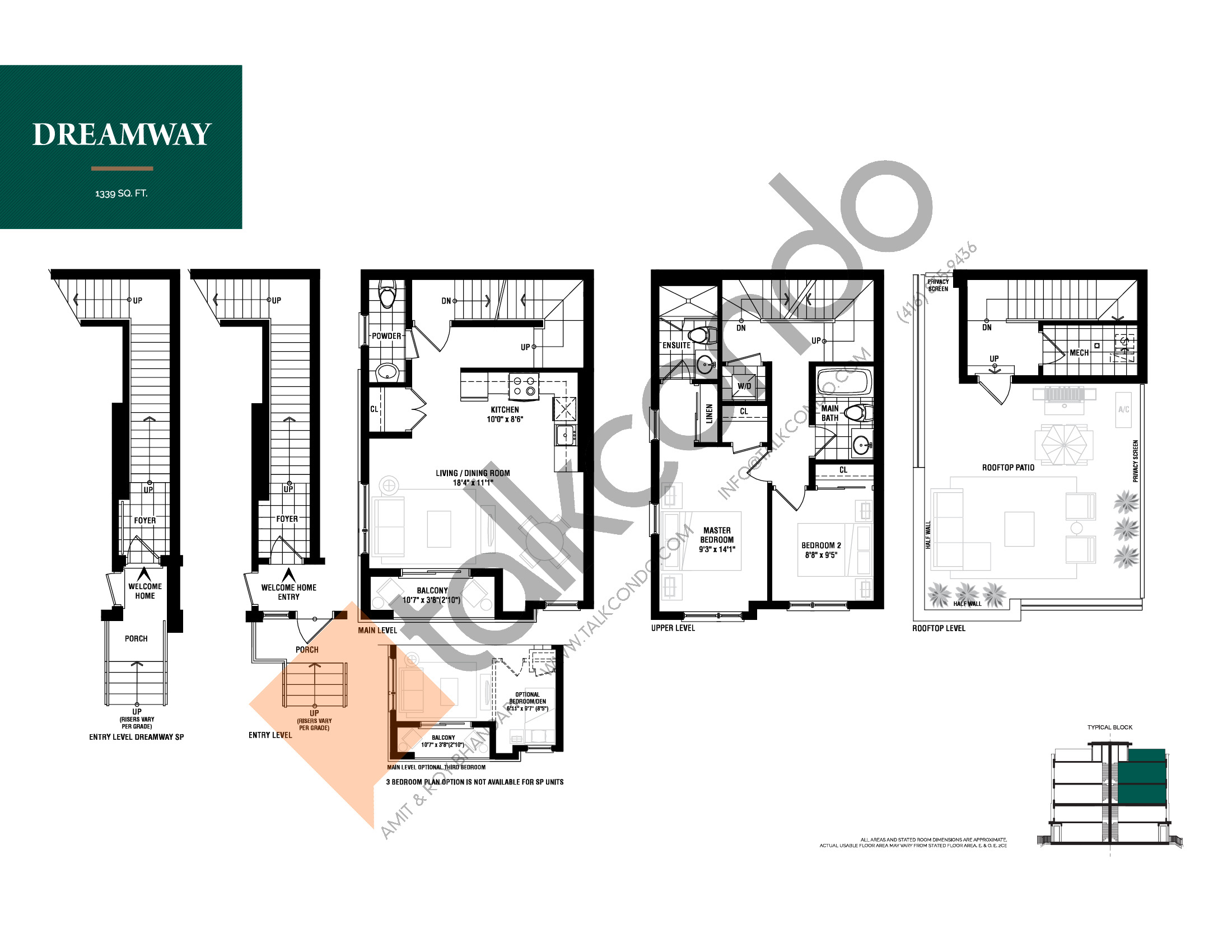 Dreamway Floor Plan at The Way Urban Towns - 1339 sq.ft