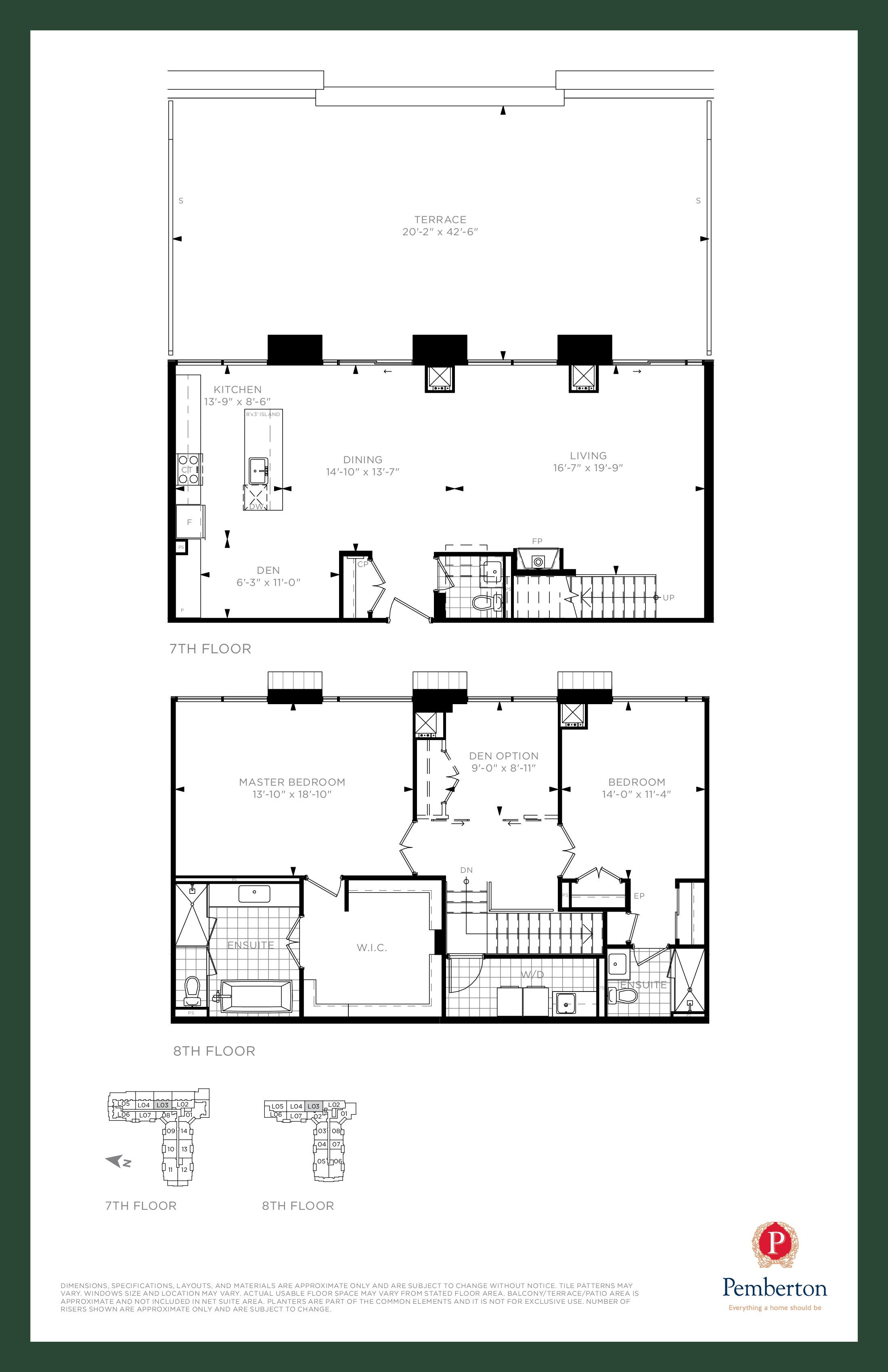 Loft B - Building A Floor Plan at 9th & Main Condos + Towns - 2055 sq.ft