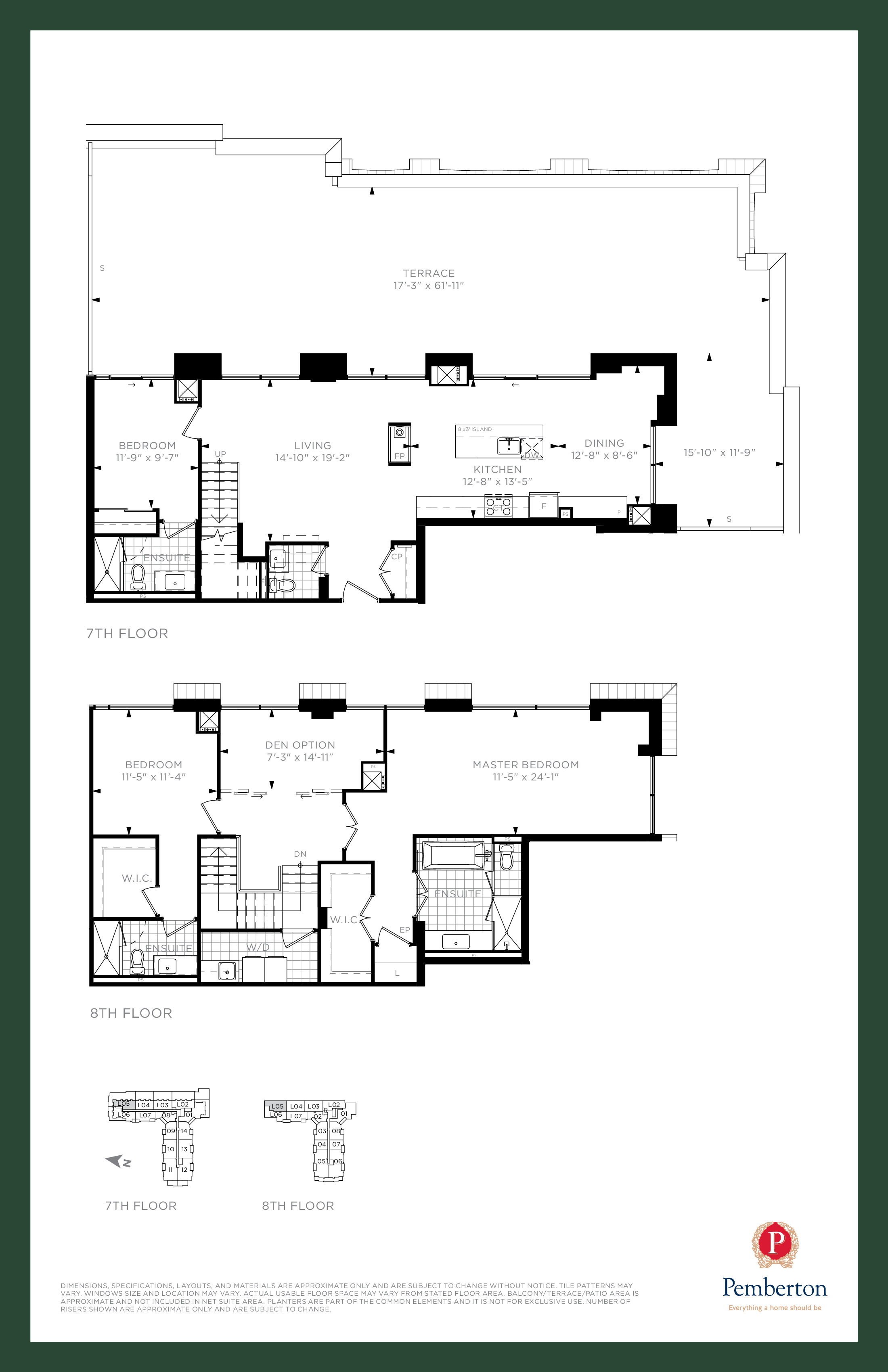 Loft C - Building A Floor Plan at 9th & Main Condos + Towns - 2185 sq.ft