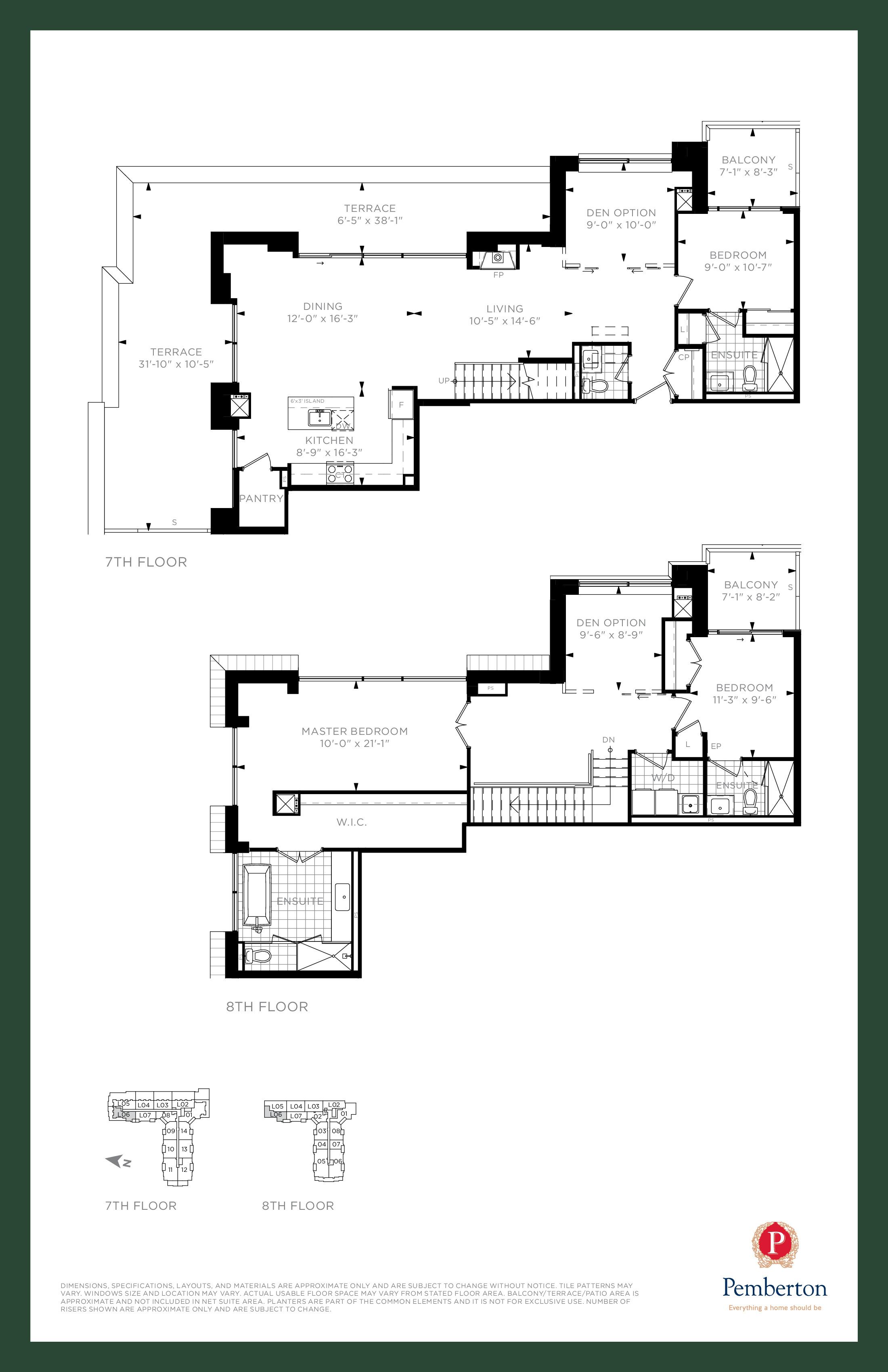 Loft D - Building A Floor Plan at 9th & Main Condos + Towns - 2200 sq.ft