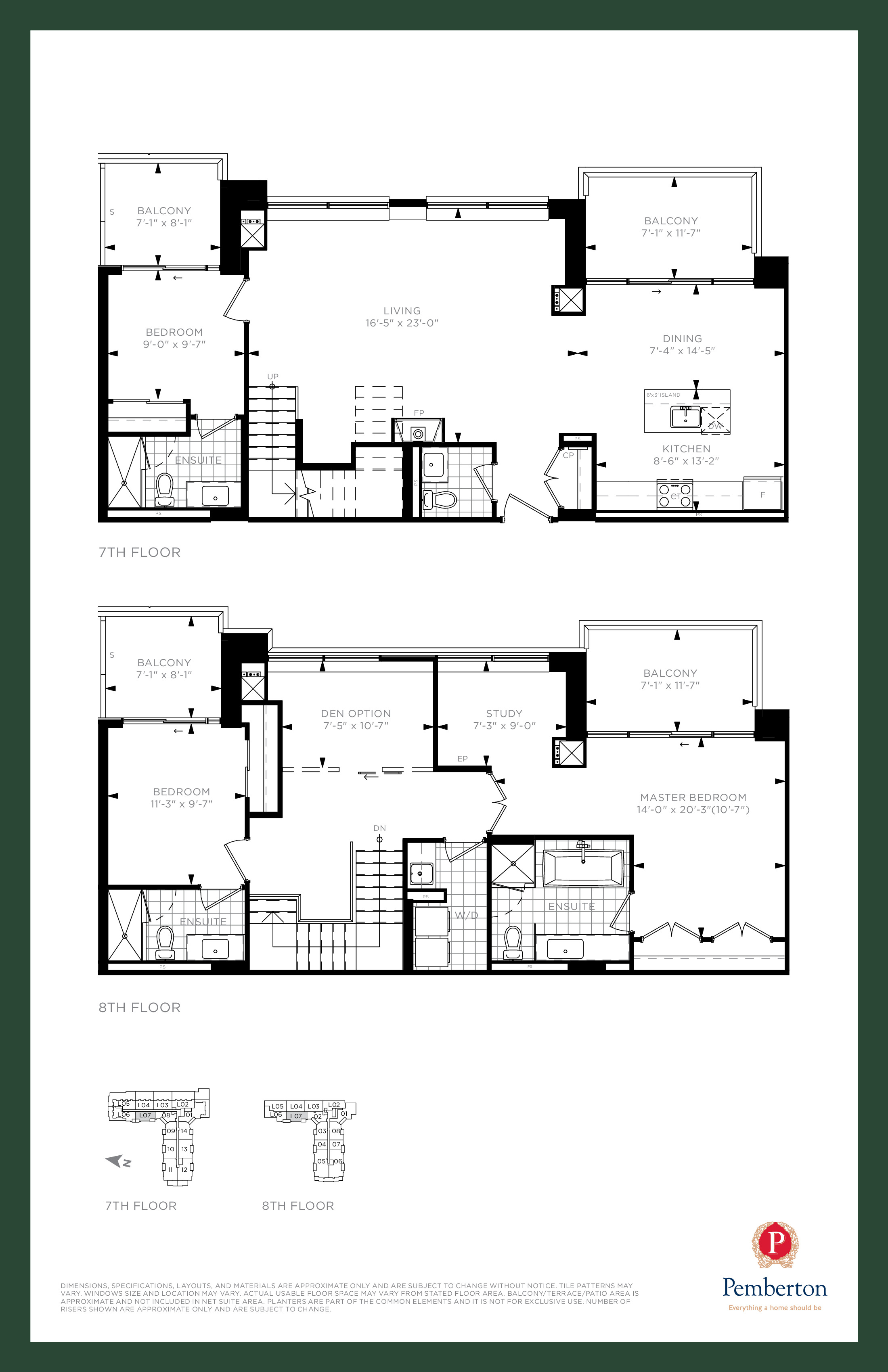 Loft E - Building A Floor Plan at 9th & Main Condos + Towns - 1975 sq.ft