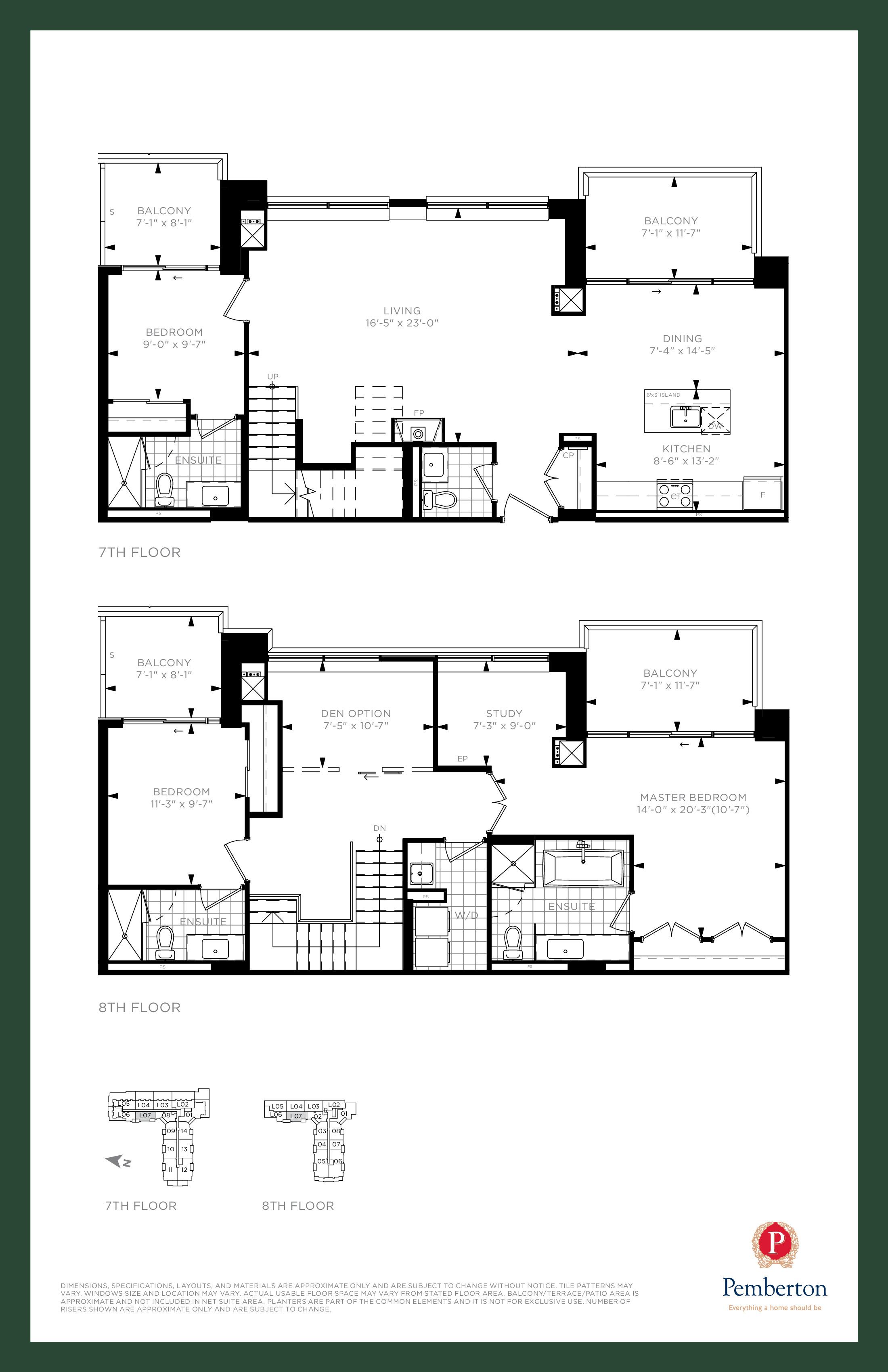 Loft E - Building A Floor Plan at 9th & Main Condos + Towns - 1975 sq.ft