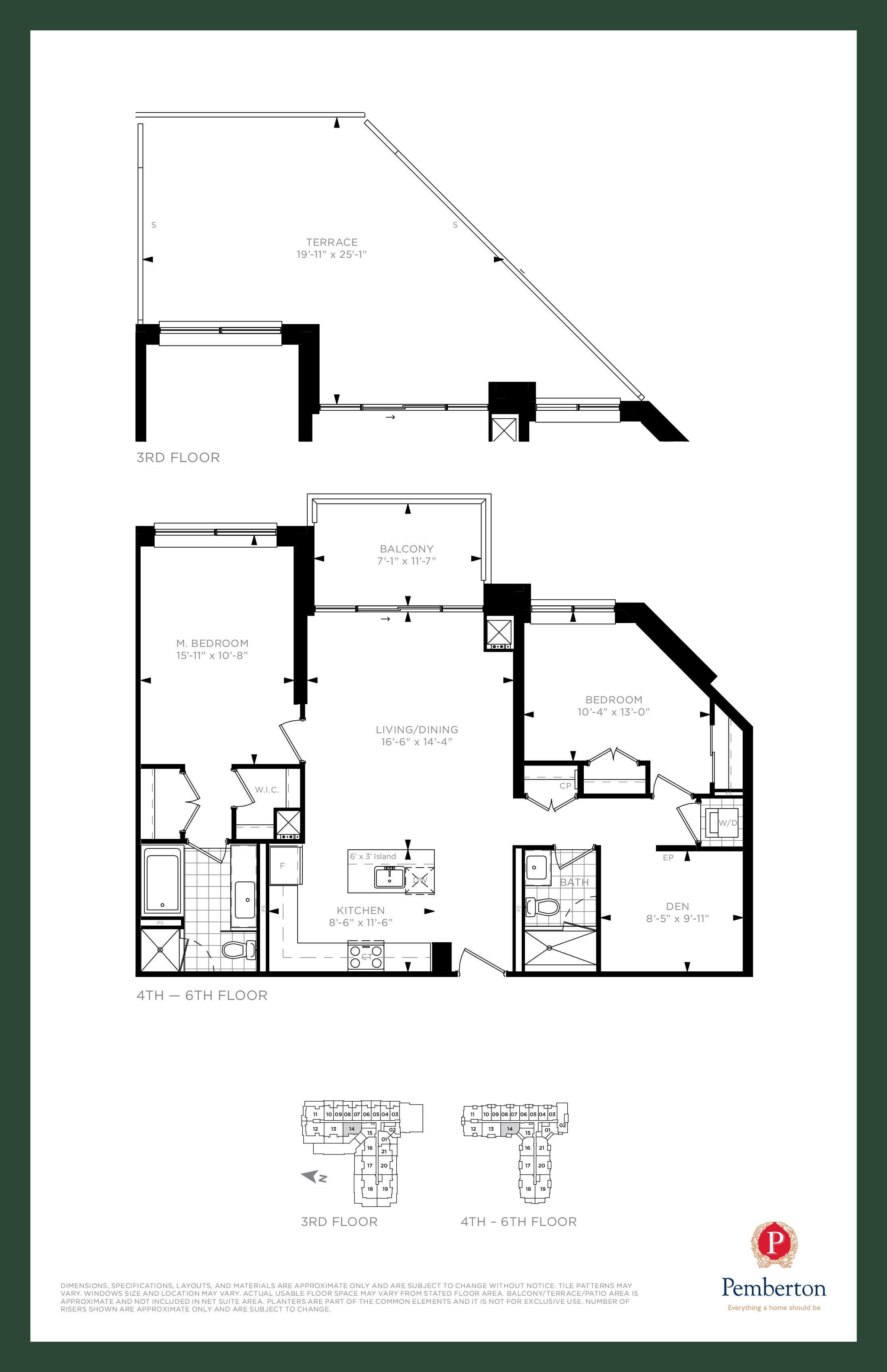 Suite K1 - Building A Floor Plan at 9th & Main Condos + Towns - 1170 sq.ft