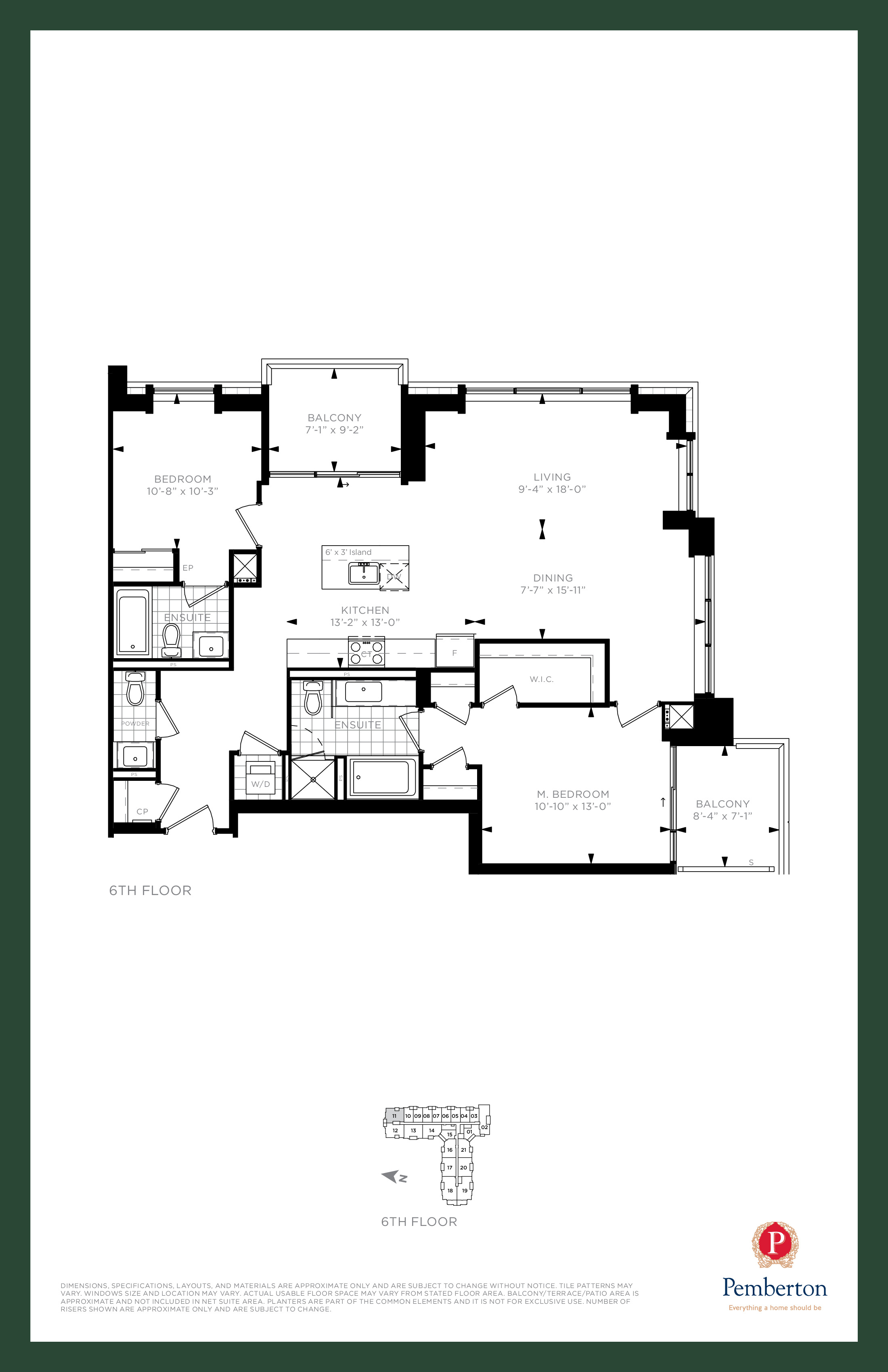 Suite L1 - Building A Floor Plan at 9th & Main Condos + Towns - 1250 sq.ft