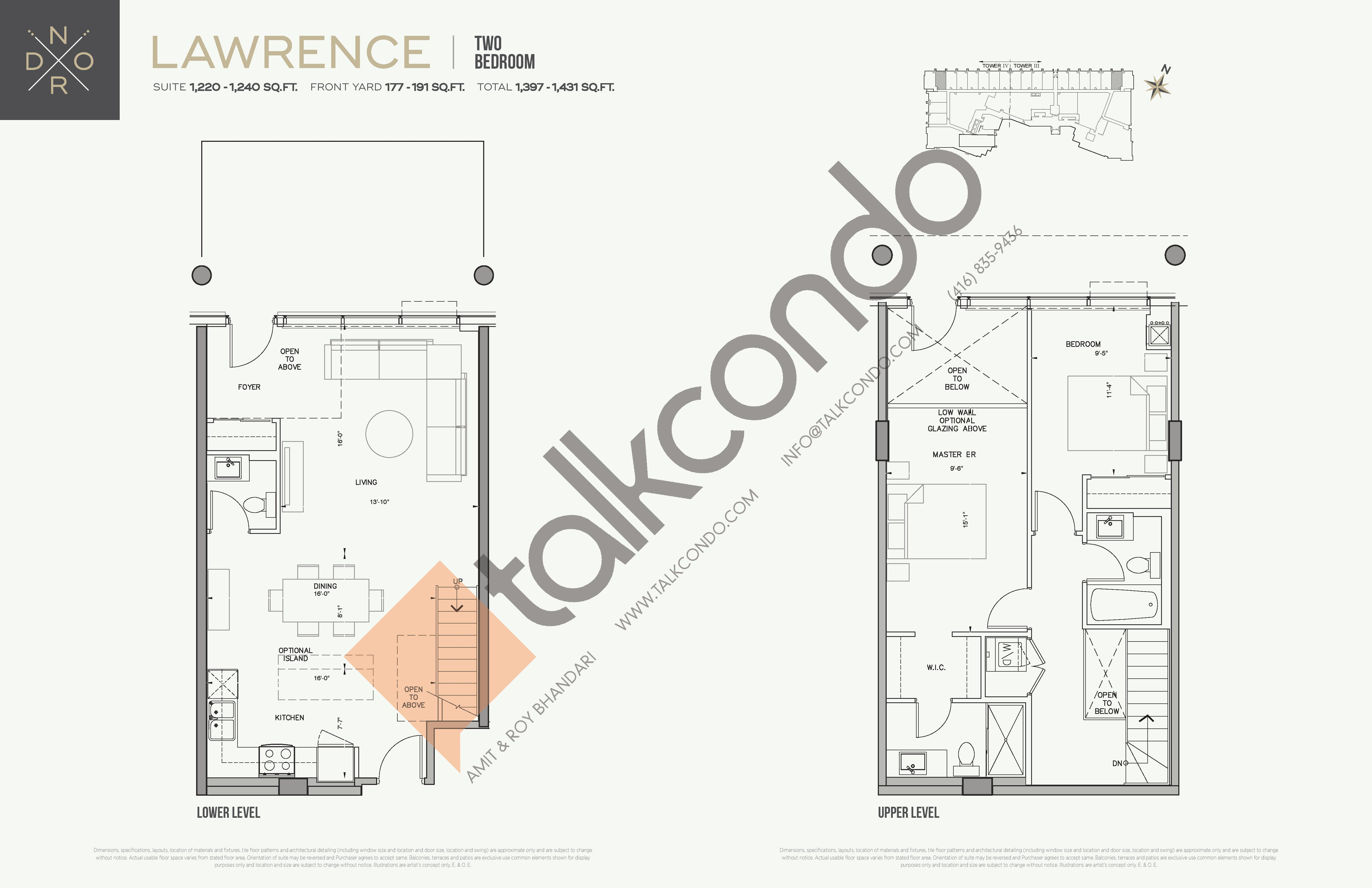 Lawrence Floor Plan at Nord Towns at Expo City - 1240 sq.ft
