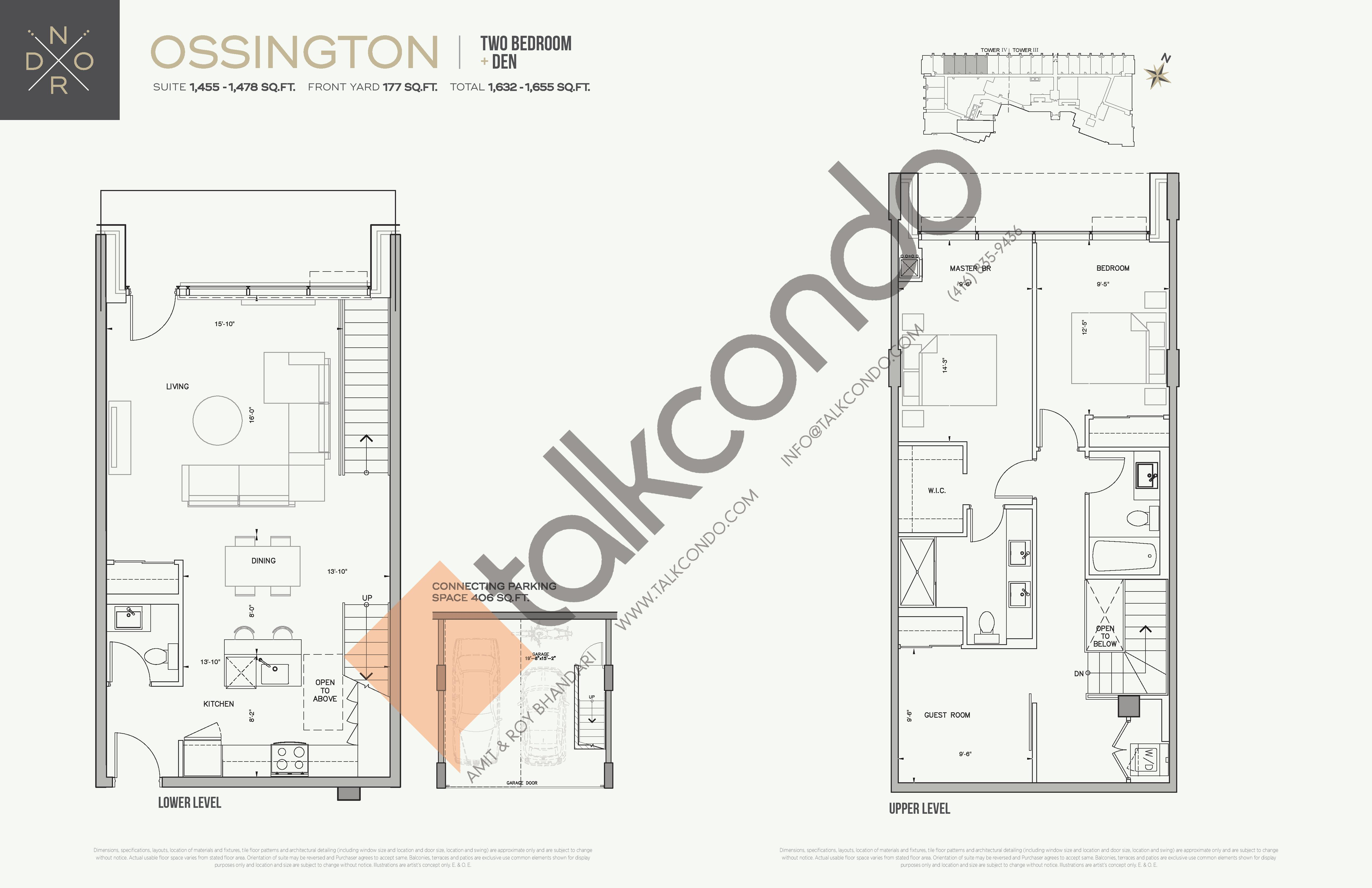 Ossington Floor Plan at Nord Towns at Expo City - 1478 sq.ft