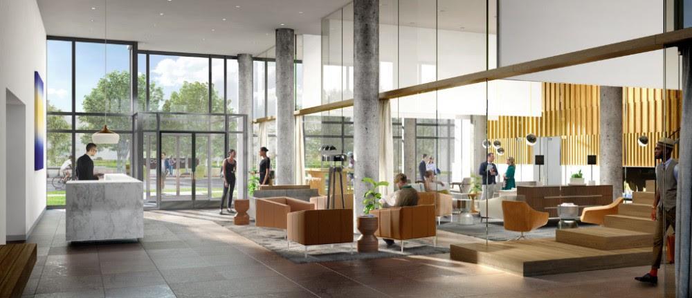 The Keeley Condos Lobby