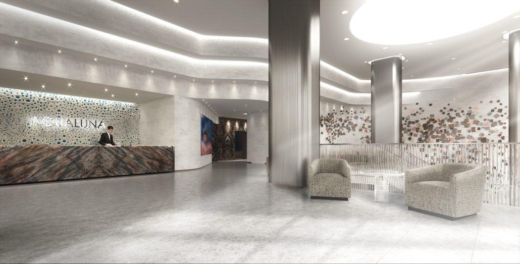 Aqualuna at Bayside North Lobby