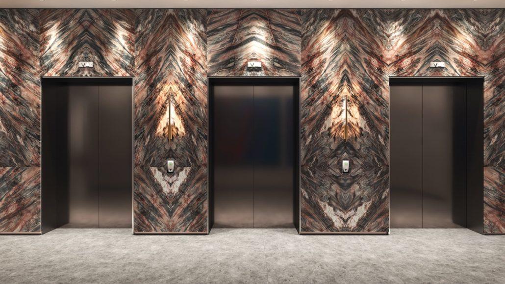 Aqualuna at Bayside North Lobby Elevator