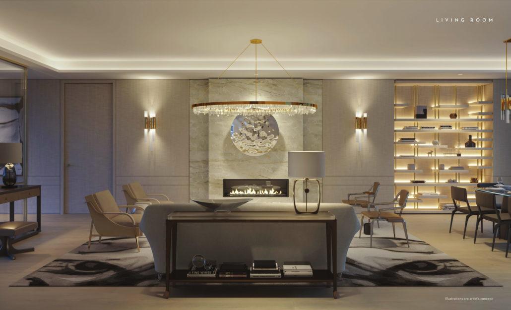 Fifty Scollard Condos Living Room