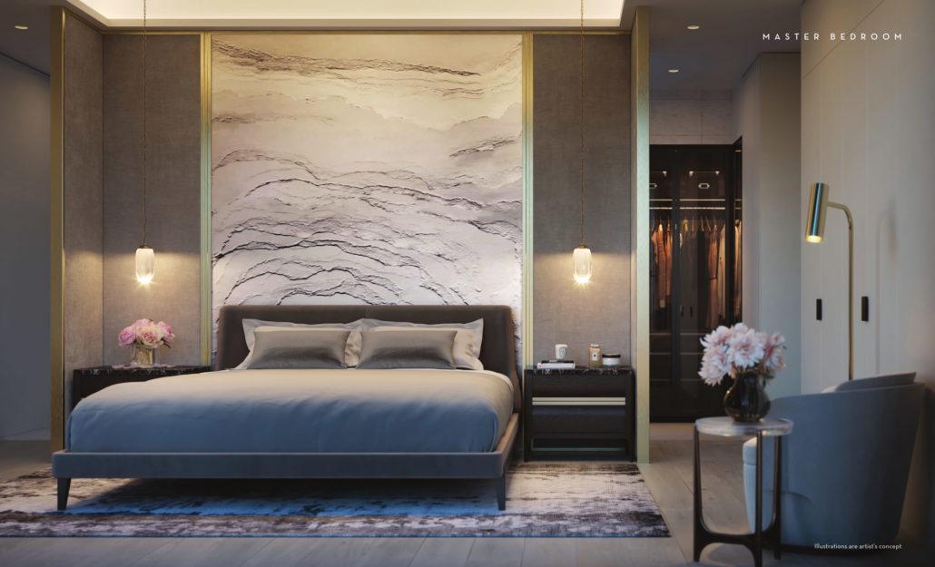Fifty Scollard Condos Master Bedroom