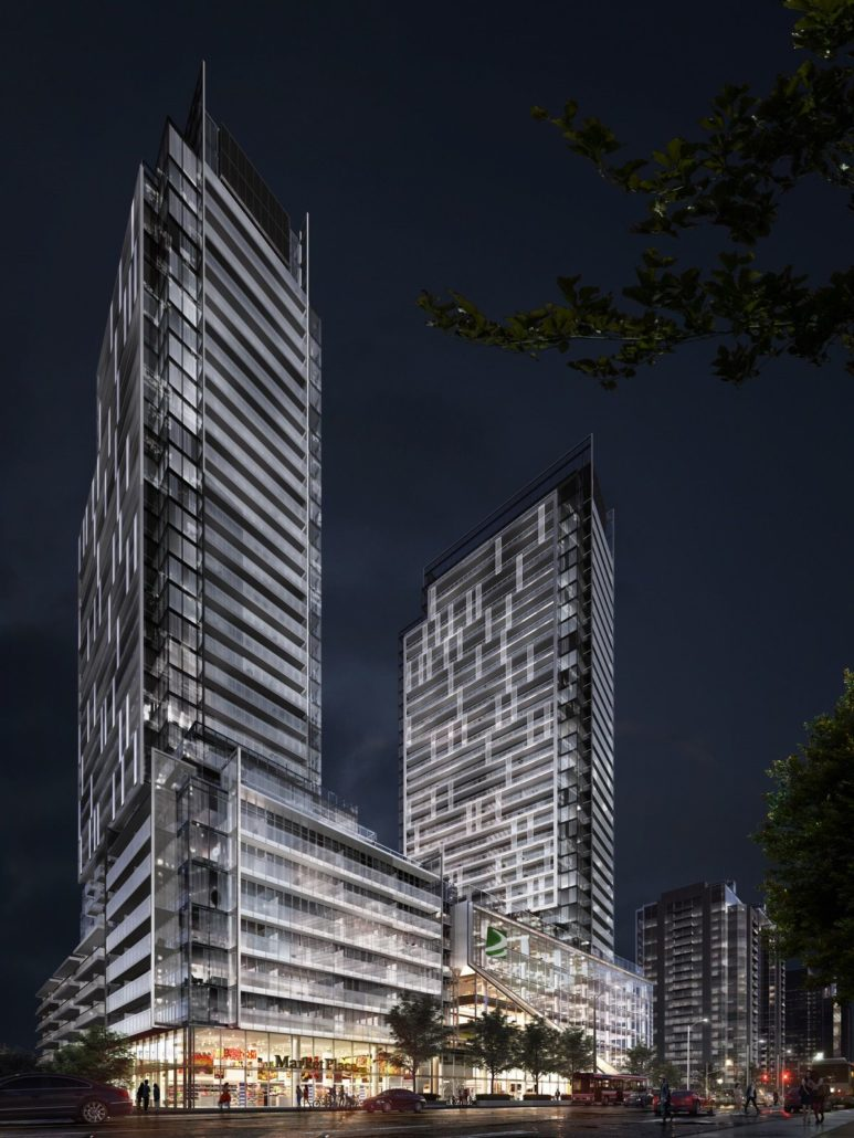 M2M Condos Rendering Night
