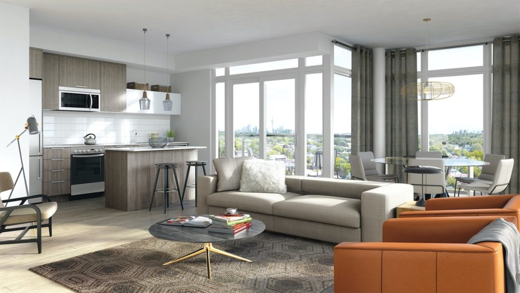 The Queensview at Backyard Condos Suite