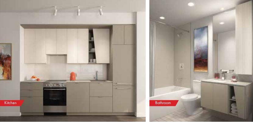 M City Condos Kitchen and Bathroom