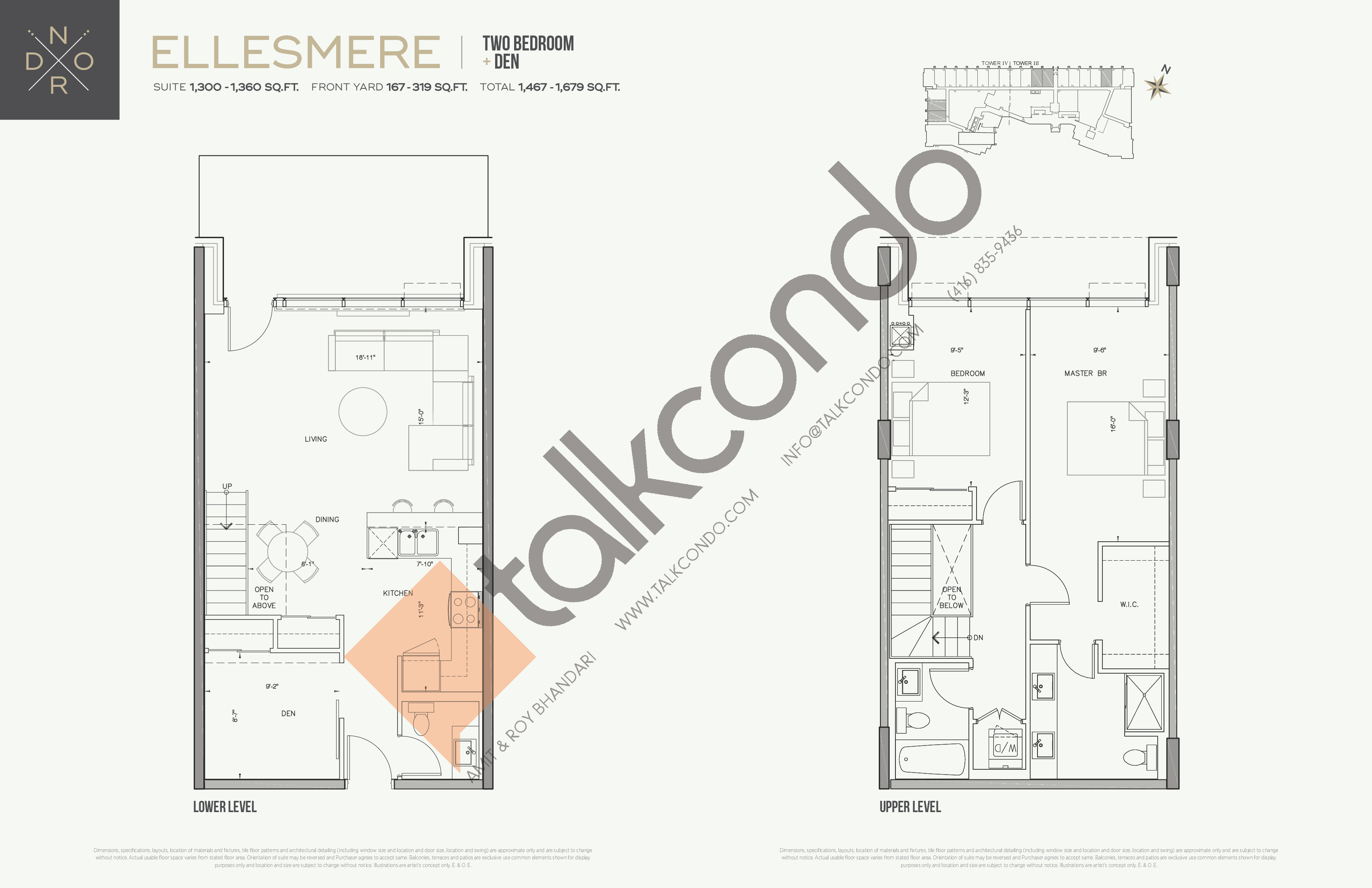 Ellesmere Floor Plan at Nord West at Expo City Condos - 1360 sq.ft