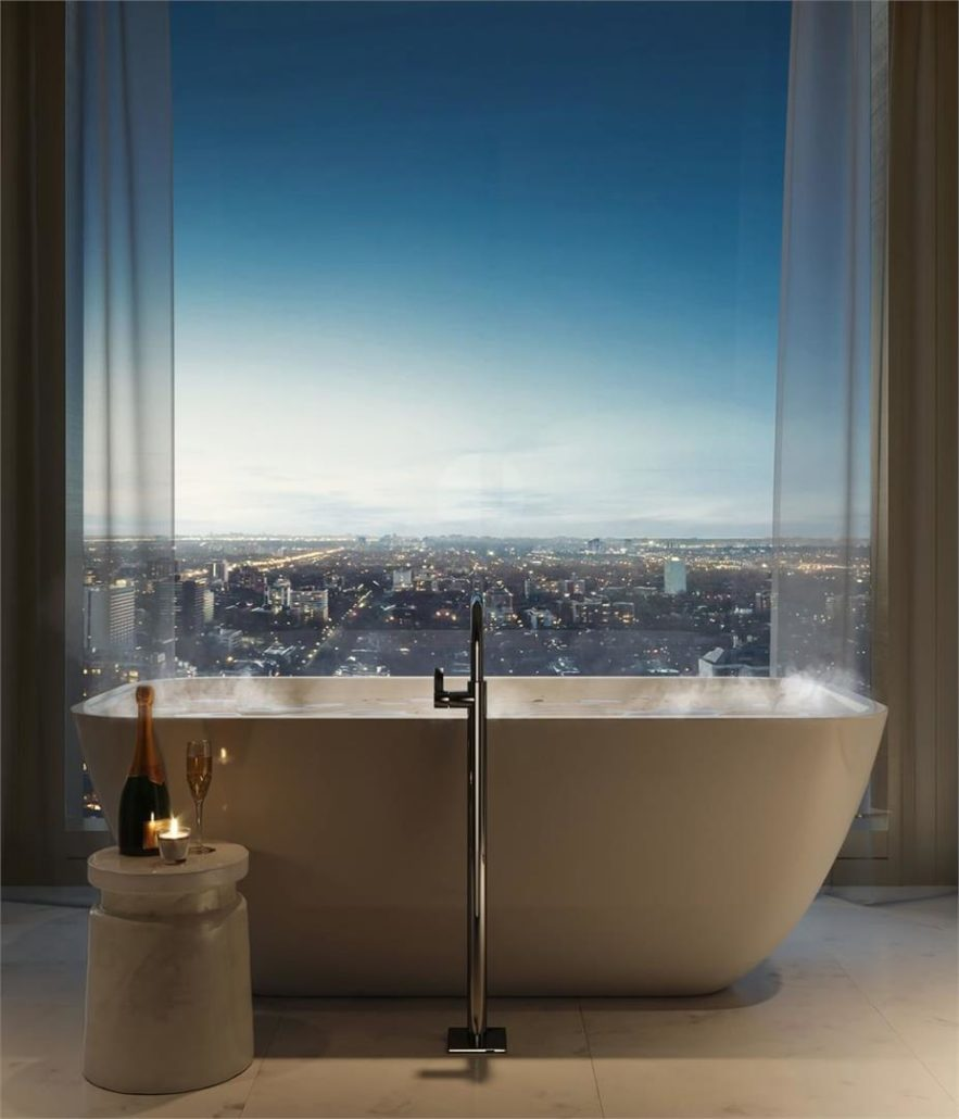 Fifty Scollard Condos Bath Rendering