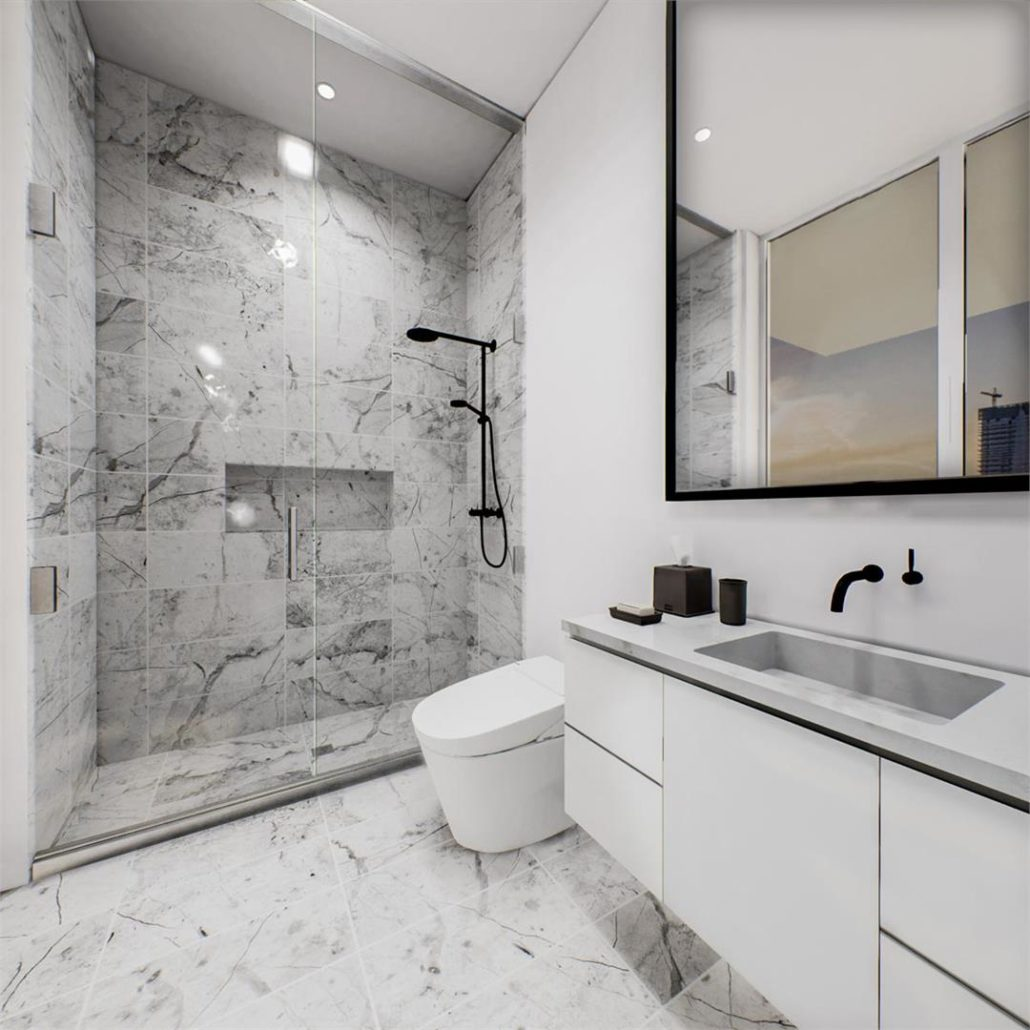 Via Bloor 2 Penthouse Guest Bathroom