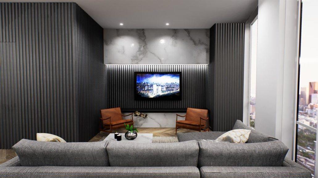 Via Bloor 2 Penthouse Living Room