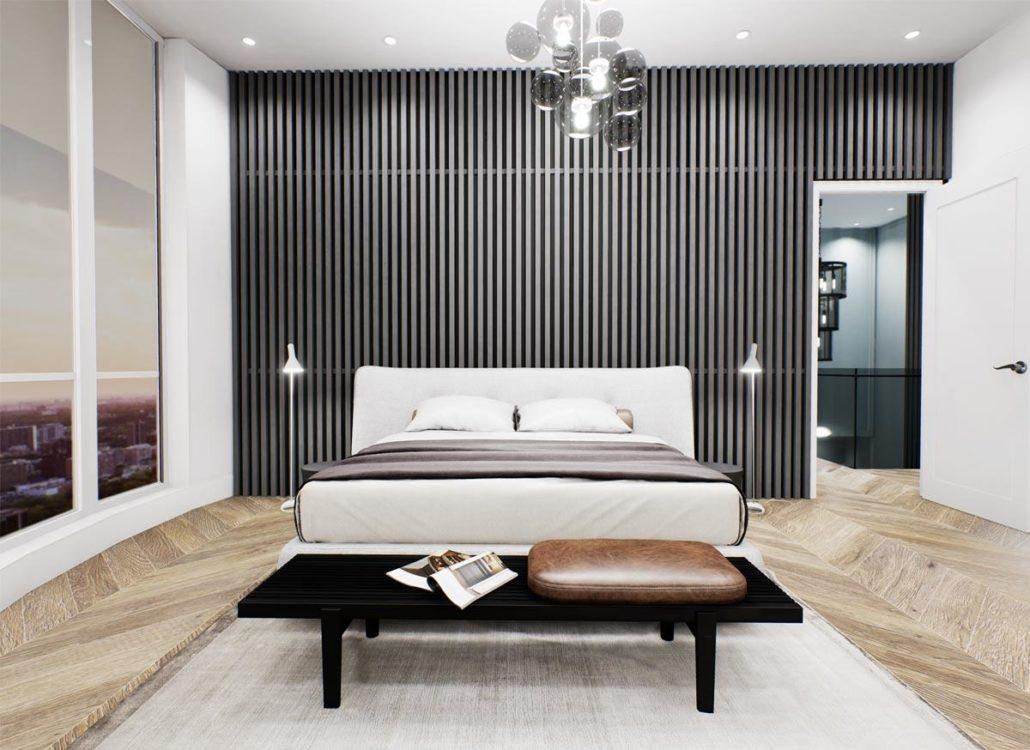 Via Bloor 2 Penthouse Master Bedroom