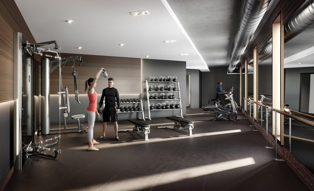 Fifty Seven Brock Condos Gym