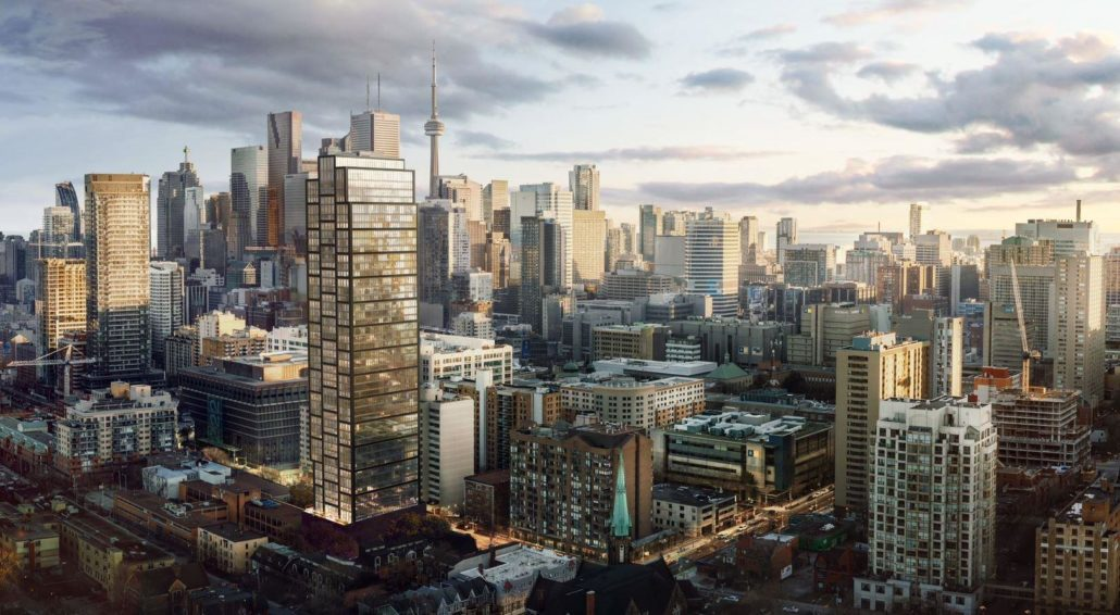 Exterior Rendering of Prime Condos overlooking Toronto