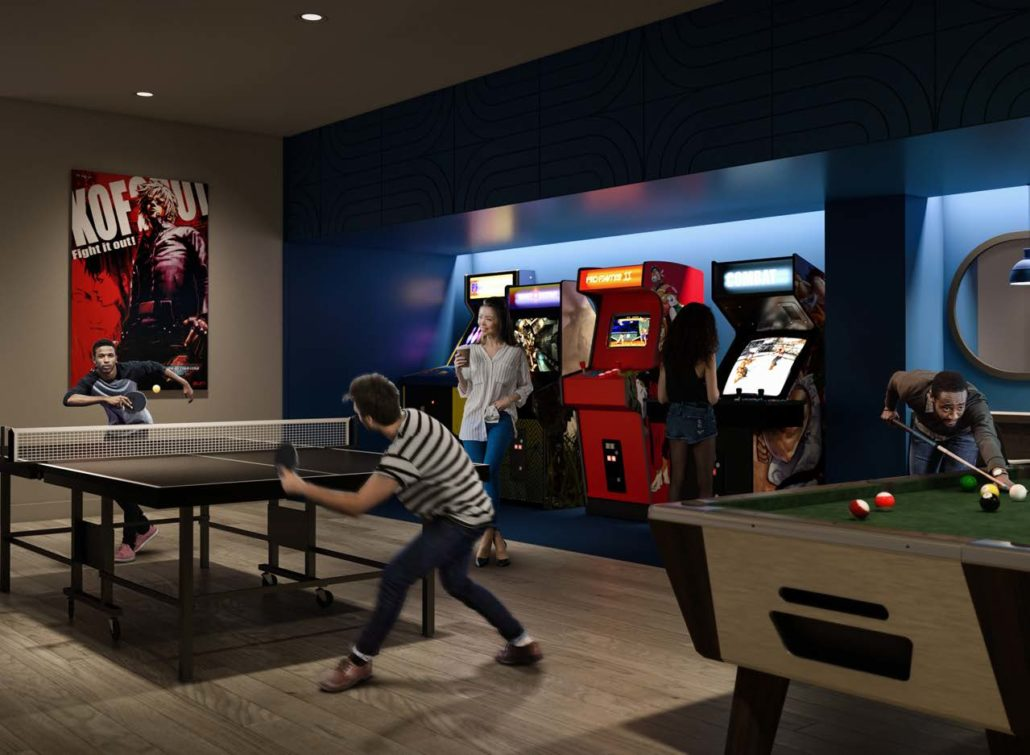 Games Room and Arcade at Artworks Condos