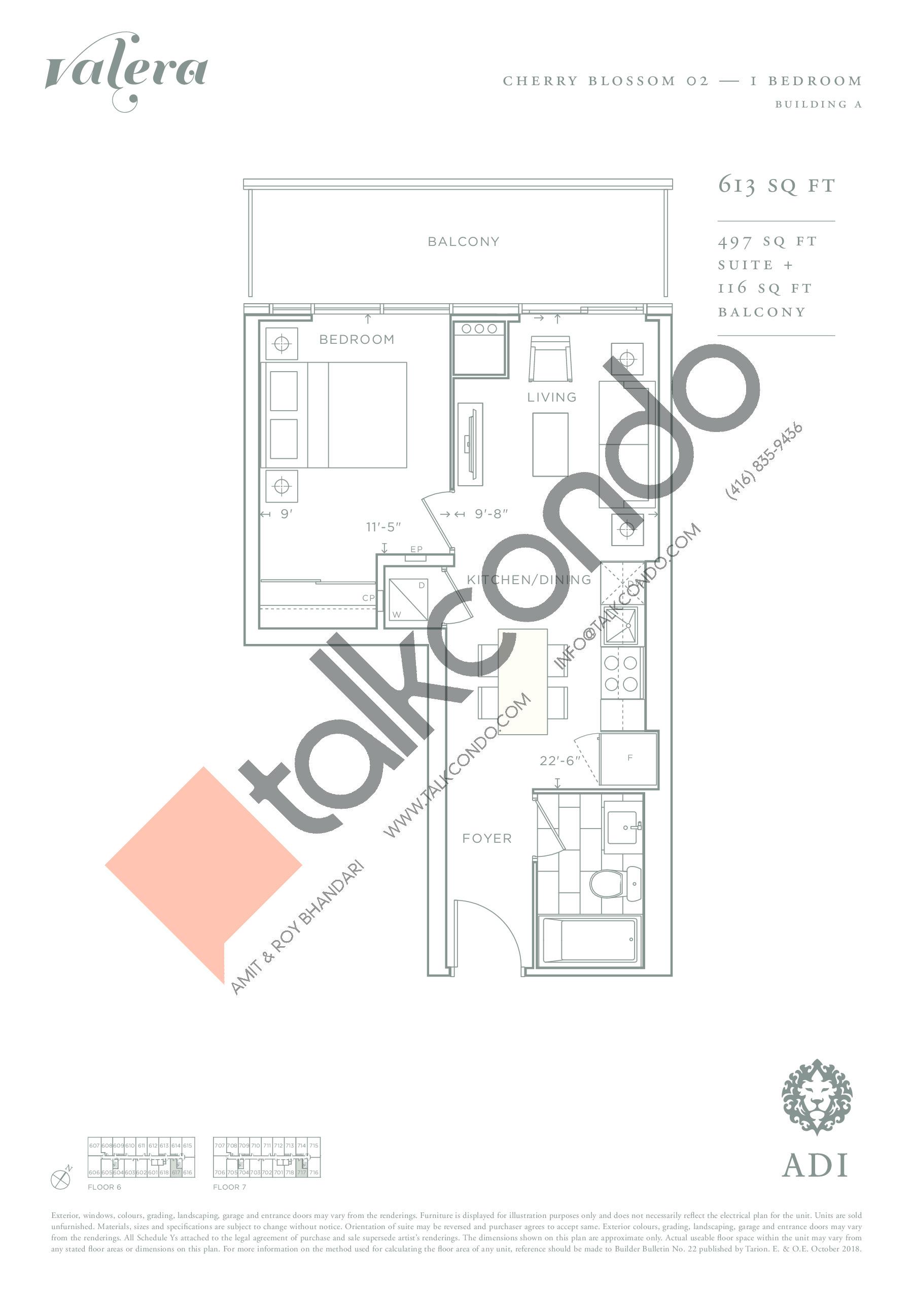 Cherry Blossom 02 Floor Plan at Valera Condos - 497 sq.ft