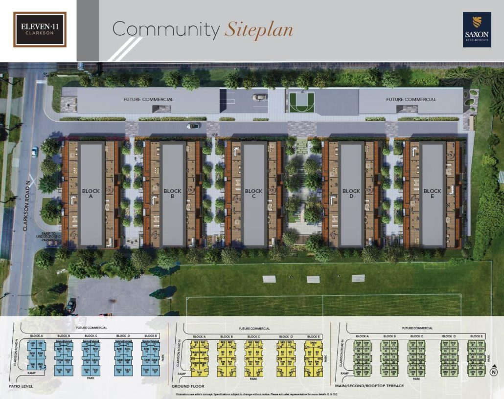 Eleven•11 Clarkson Towns Site Plan