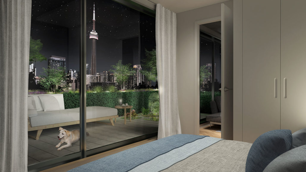 KING Toronto Bedroom Evening