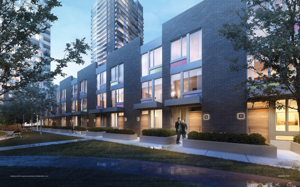 exterior of ultrasonic condos modern townhouses