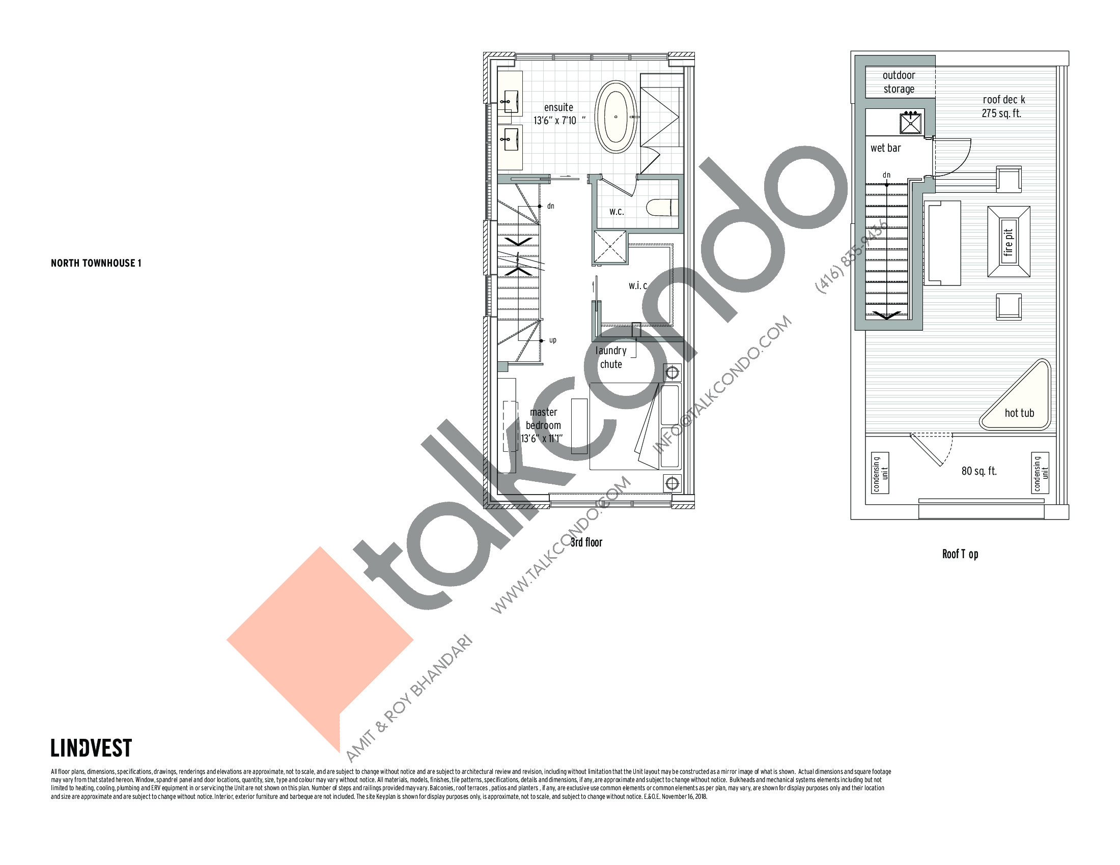 North Townhouse - 1 (2/2) Floor Plan at UltraSonic Towns - 1460 sq.ft