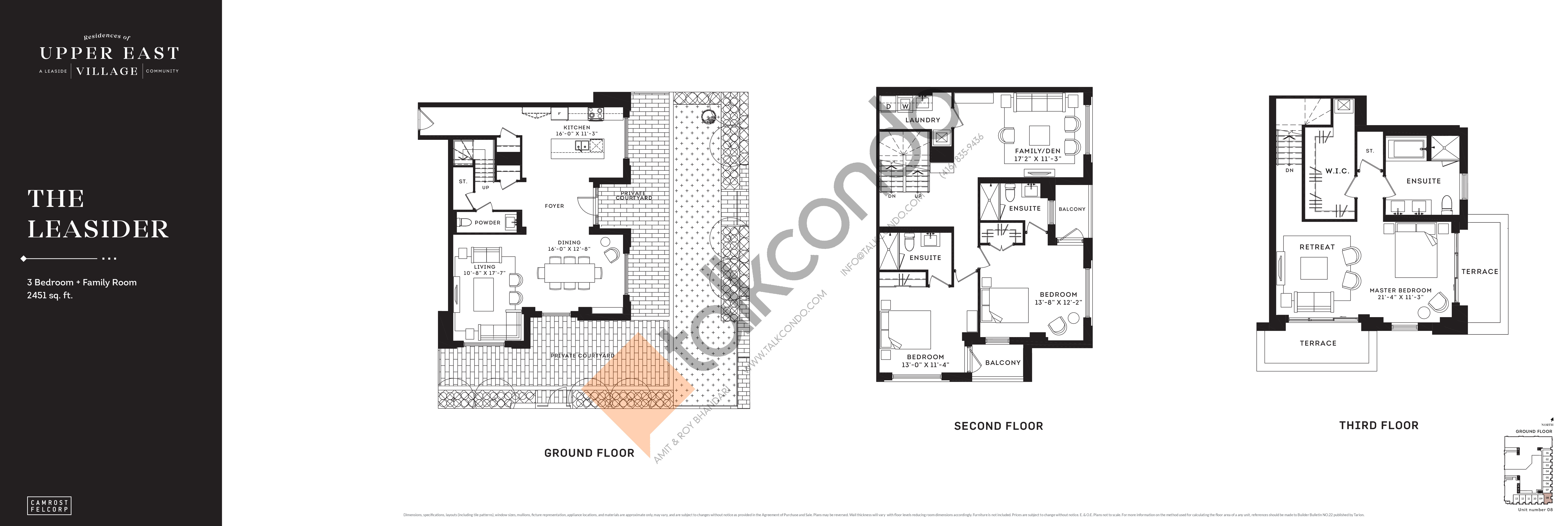 The Leasider Floor Plan at Upper East Village Condos - 2451 sq.ft