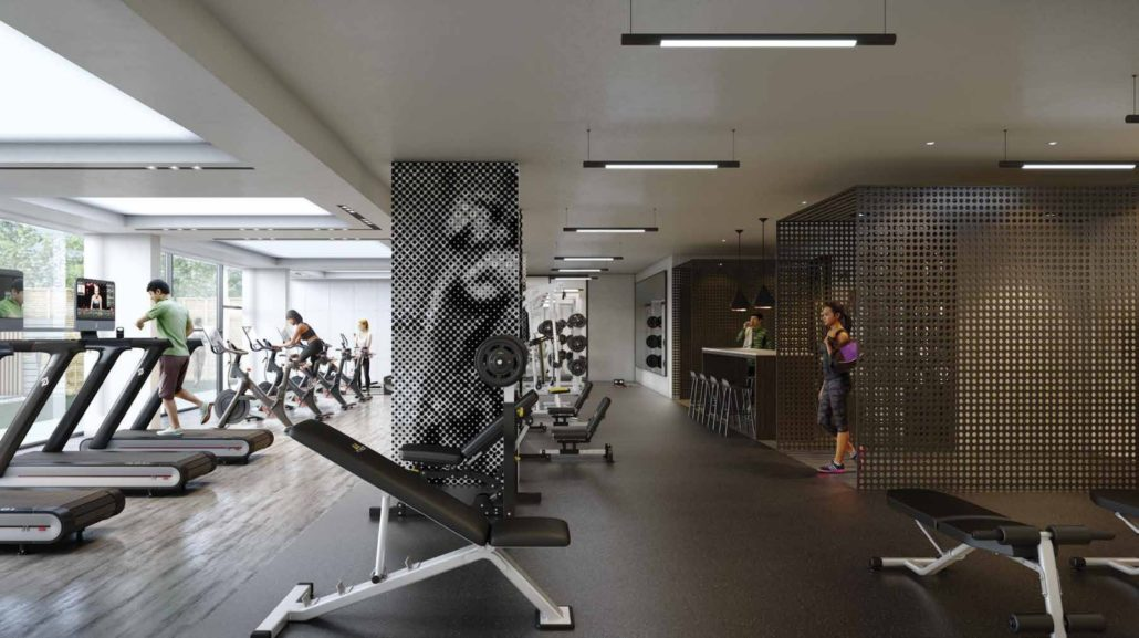 Line 5 South Tower Condos Gym
