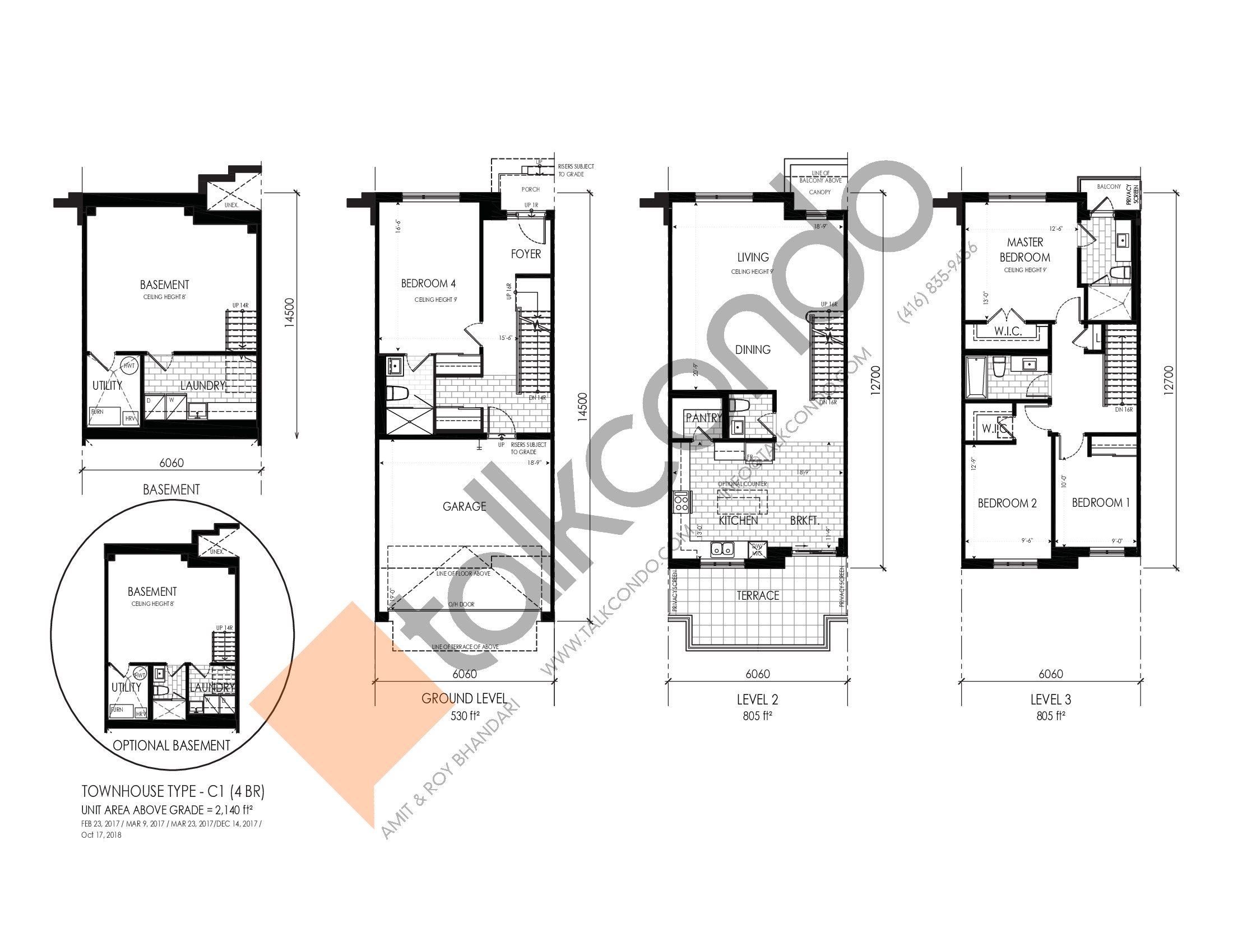C1 (4BR) Floor Plan at Pavilia Park Towns - 2140 sq.ft