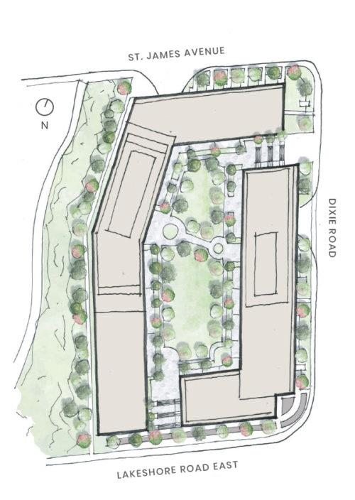 1345 Lakeshore Condos Site Plan