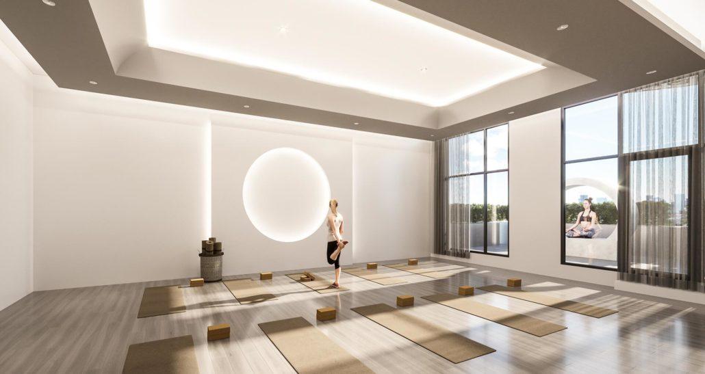 Gallery Condos and Lofts Yoga Room