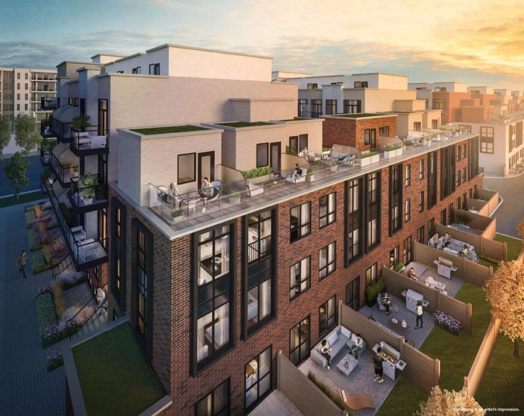 Greenwich Village Towns Rendering
