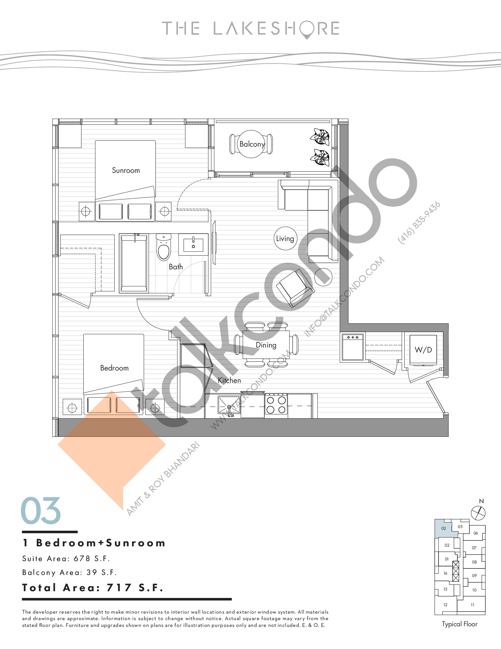 03 Floor Plan at The LakeShore Condos - 678 sq.ft