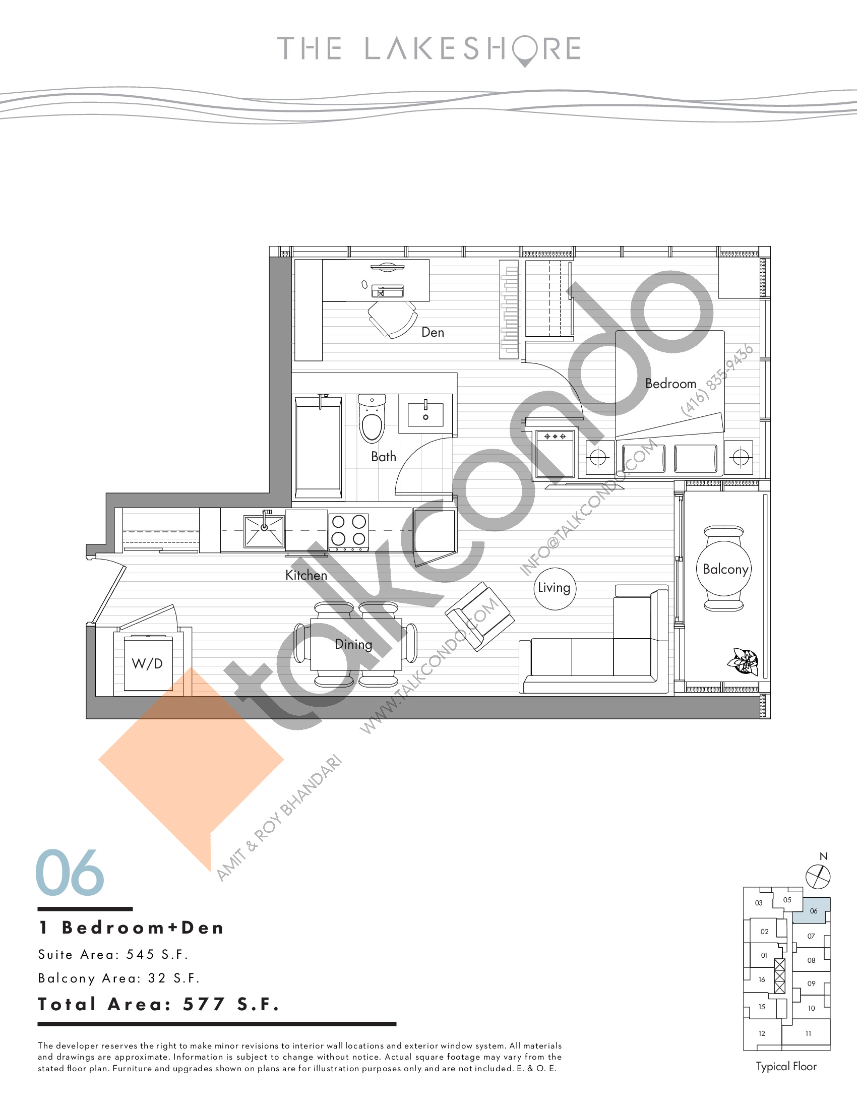 06 Floor Plan at The LakeShore Condos - 545 sq.ft
