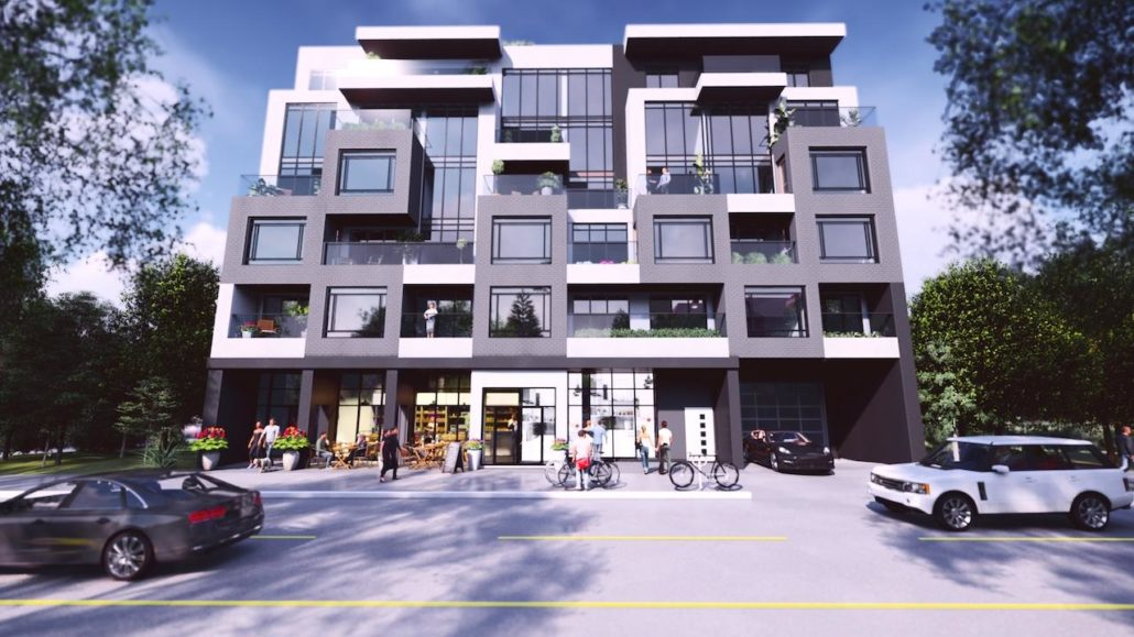 Nahid on Broadview Exterior Rendering