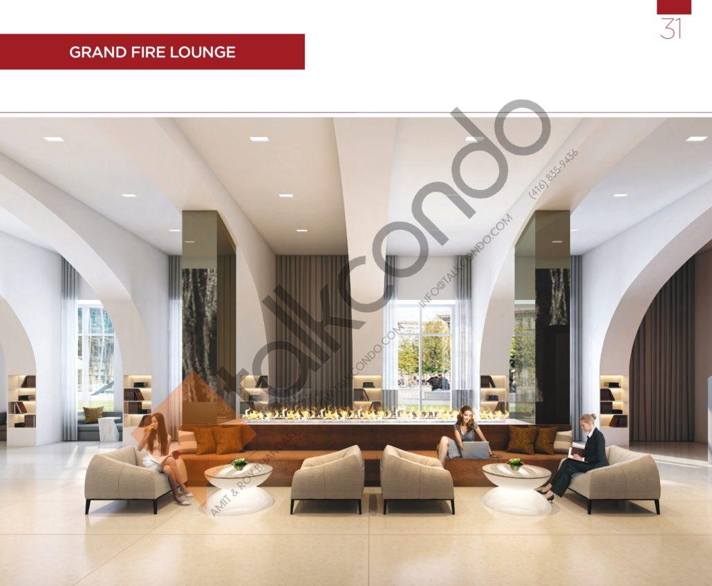 KSquare Condos Grand Fire Lounge