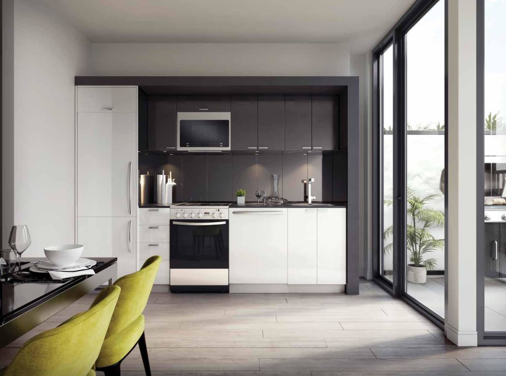 kitchen rendering at merge condos
