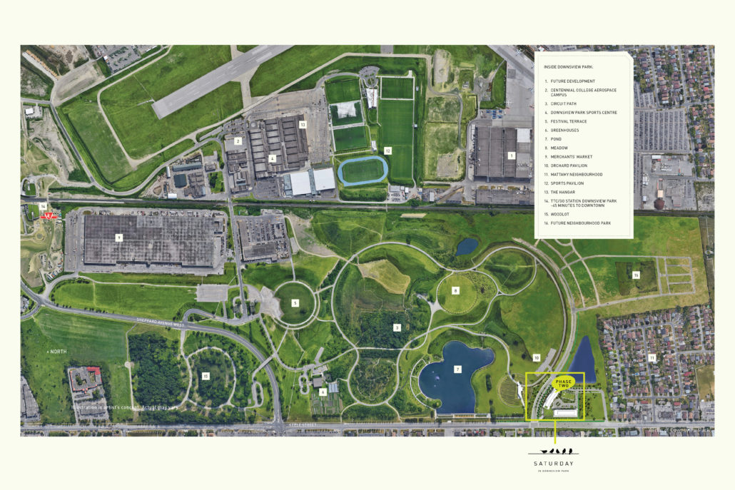 Saturday in Downsview Park Phase 2 Park Plan