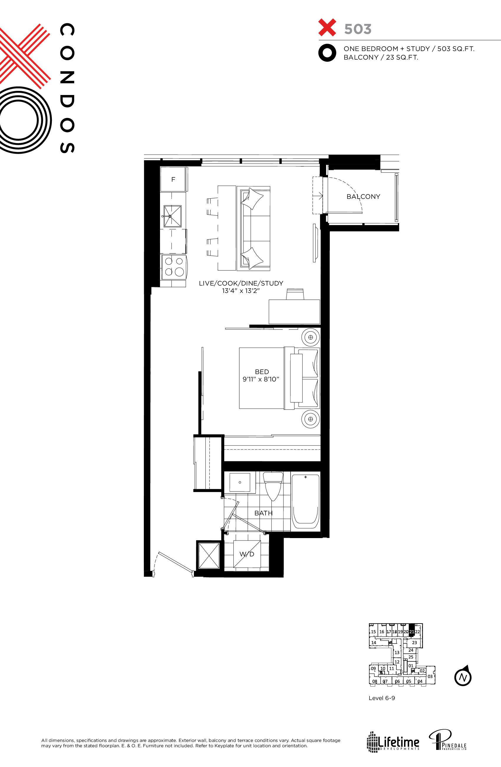 503 Floor Plan at XO Condos - 503 sq.ft