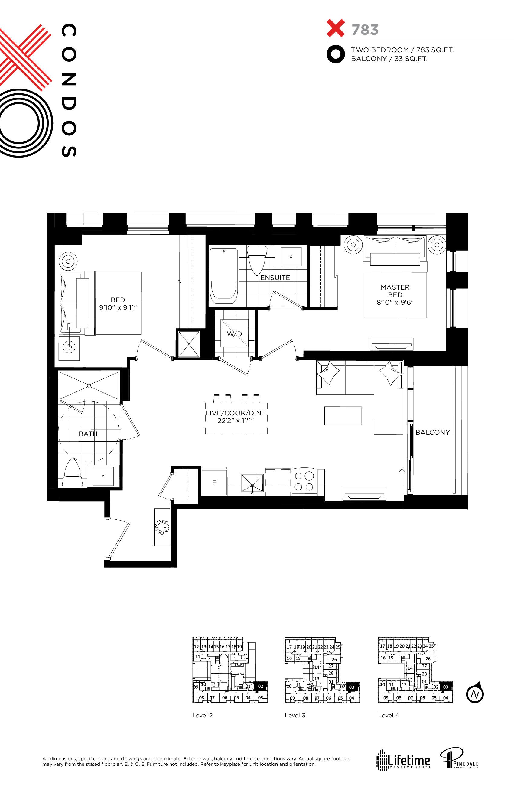 783 Floor Plan at XO Condos - 783 sq.ft