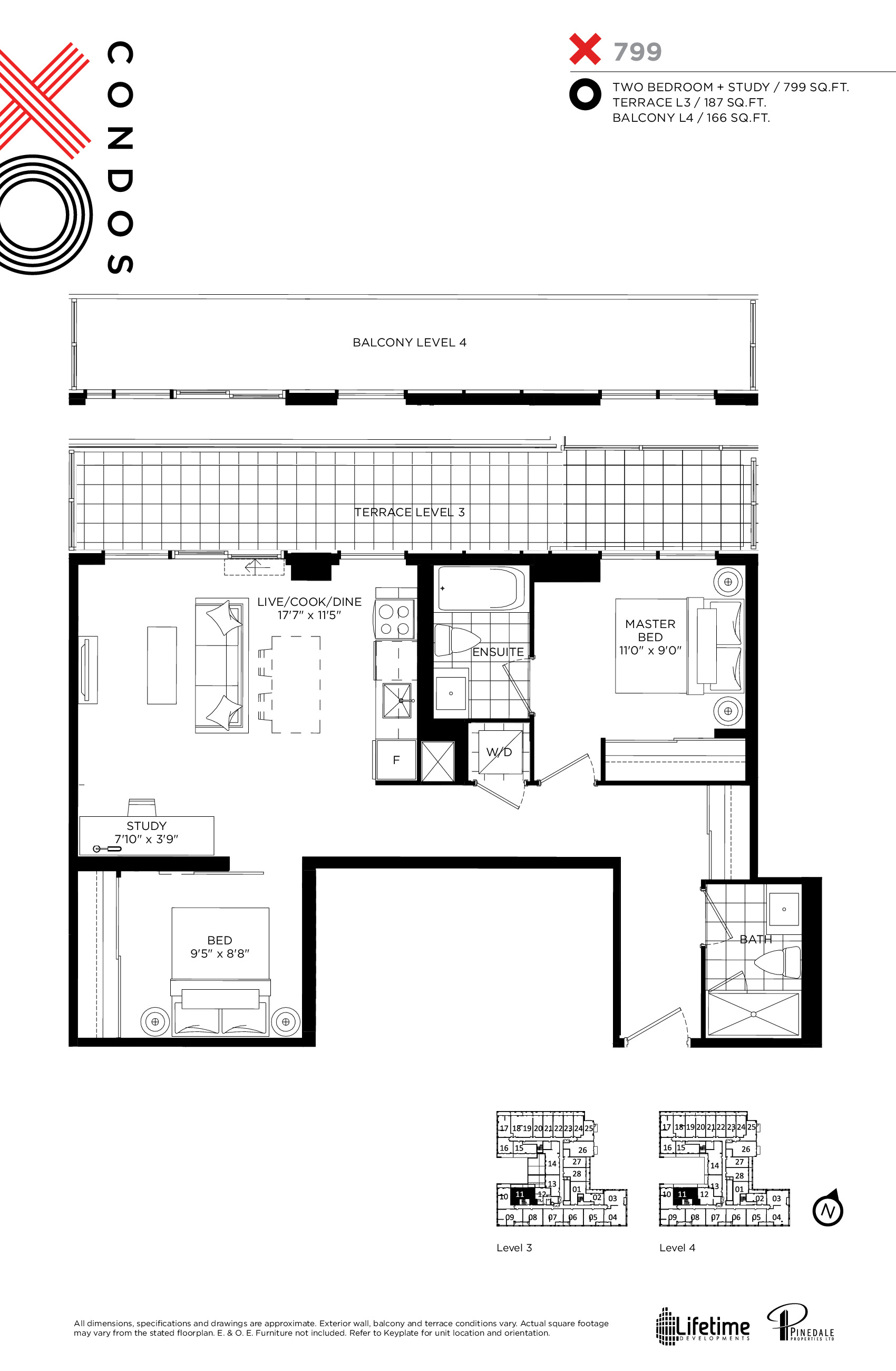 799 Floor Plan at XO Condos - 799 sq.ft