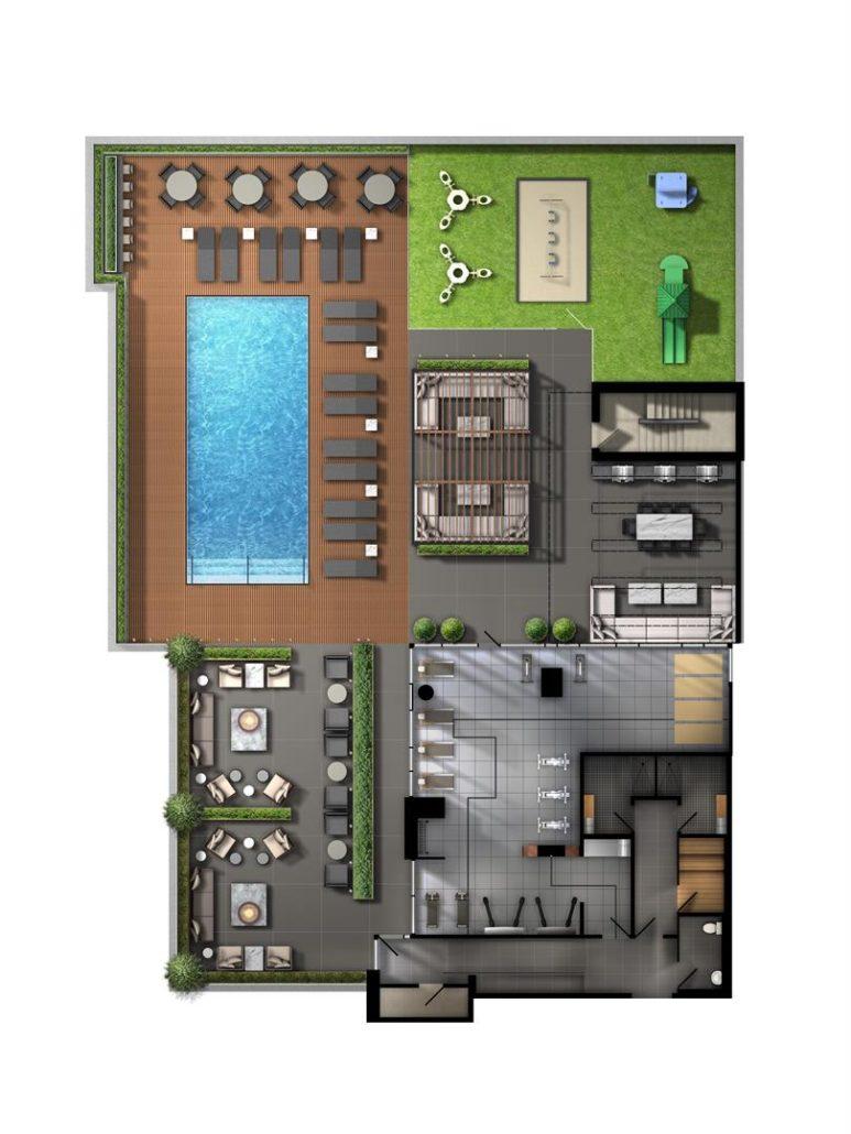 Avenue on 7 Condos 4th Floor Recreation Plan