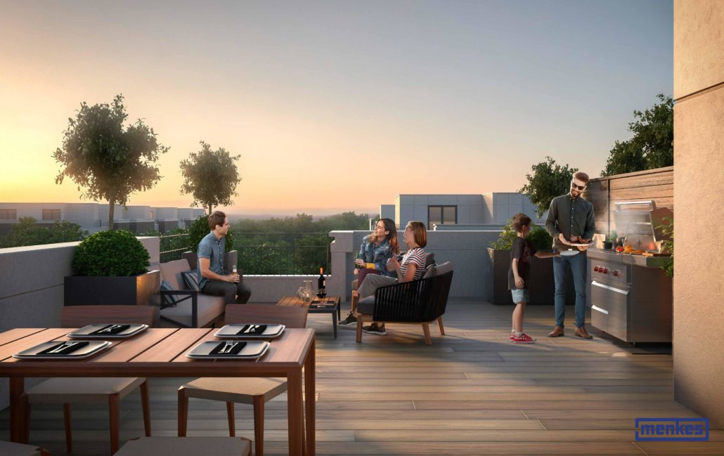 Mobilio Townhomes Rooftop