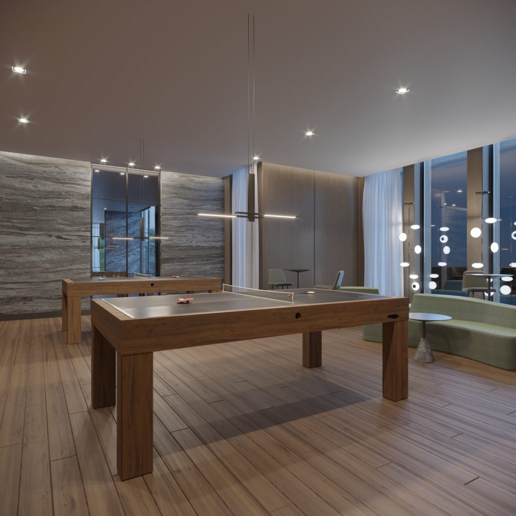 One Crosstown Condos Games Room